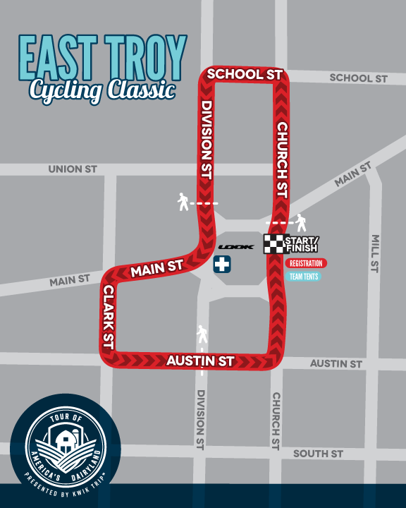 East Troy Cycling Classic Race Map