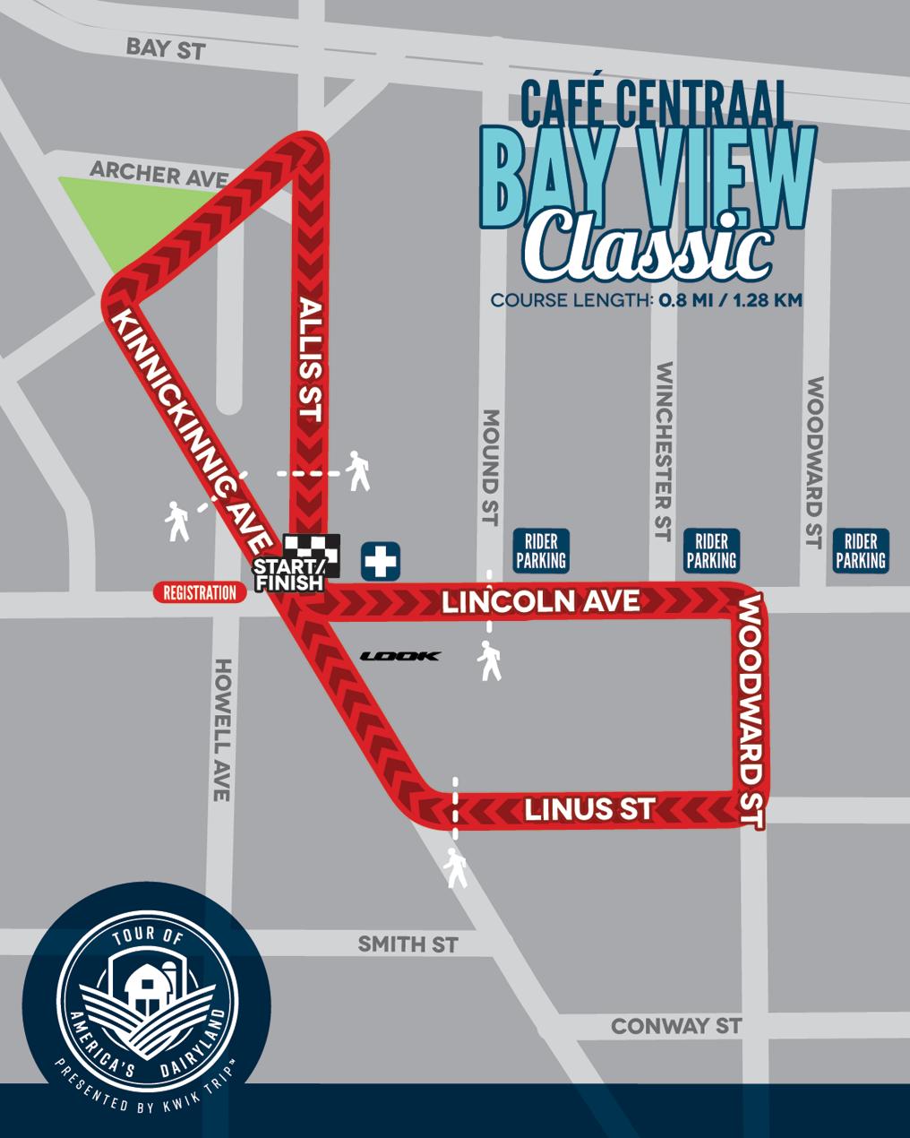 Café Centraal Bay View Classic Race Map