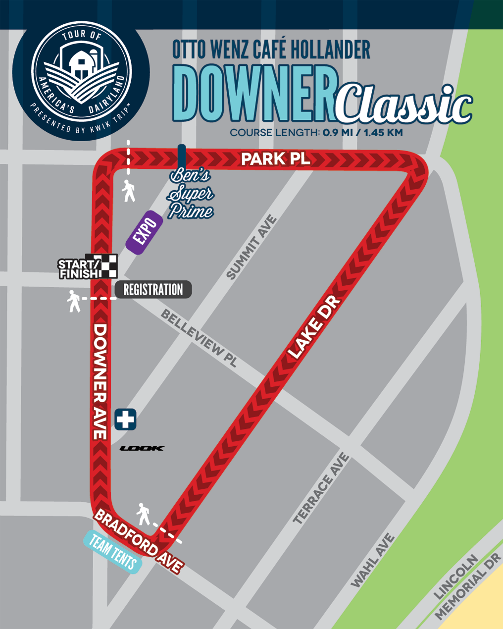 Downer Classic Race Map