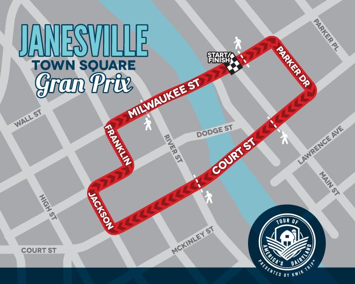 Janesville Town Square Gran Prix Race Map