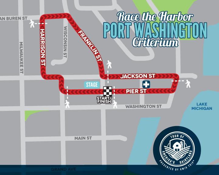 Port Washington Race the Harbor Criterium Race Map