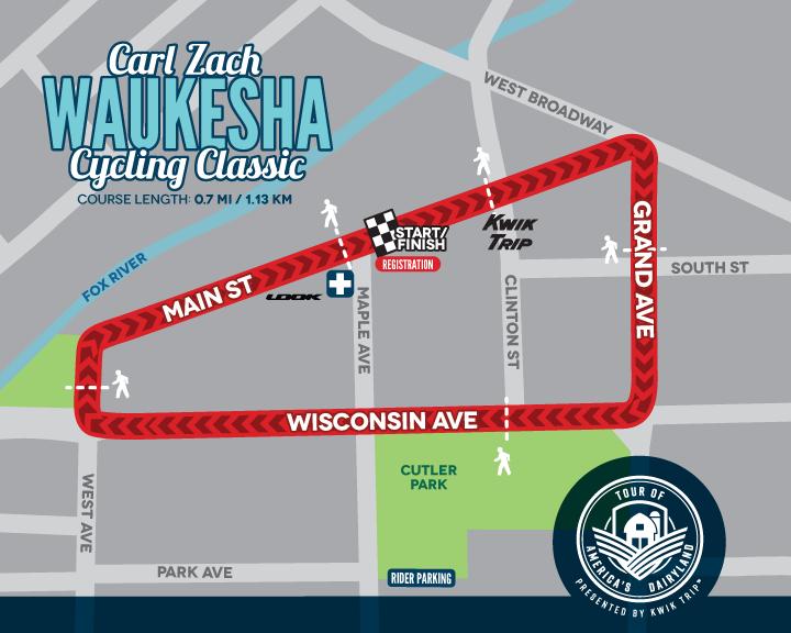 Waukesha Carl Zach Cycling Classic Race Map