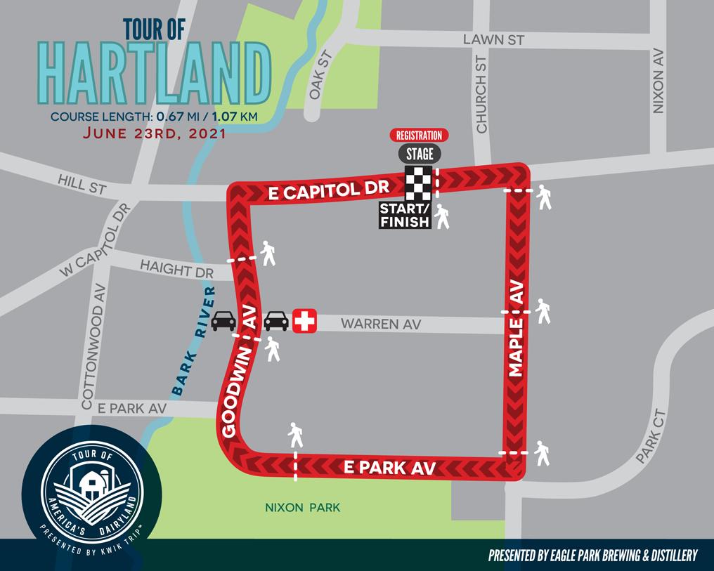Tour of Hartland Race Map
