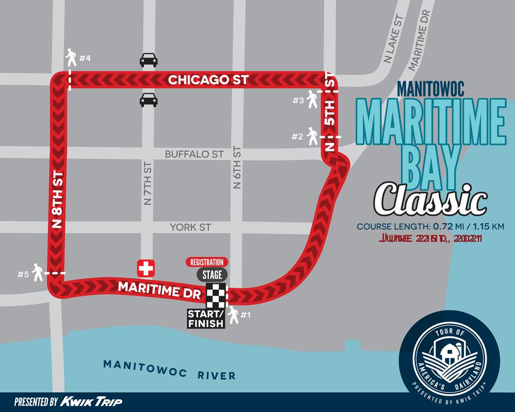 Manitowoc Maritime Bay Classic Race Map